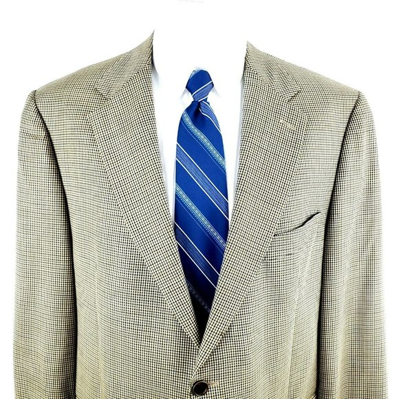 Brooks Brothers Other - Brooks Brothers 42R 2 Button Houndstooth Tan